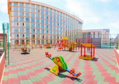 Детская площадка санатория «Русь» в Ессентуках - фотография