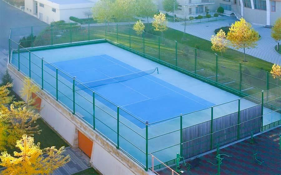 Теннисный корт в санатории Русь в Ессентуках - фотография