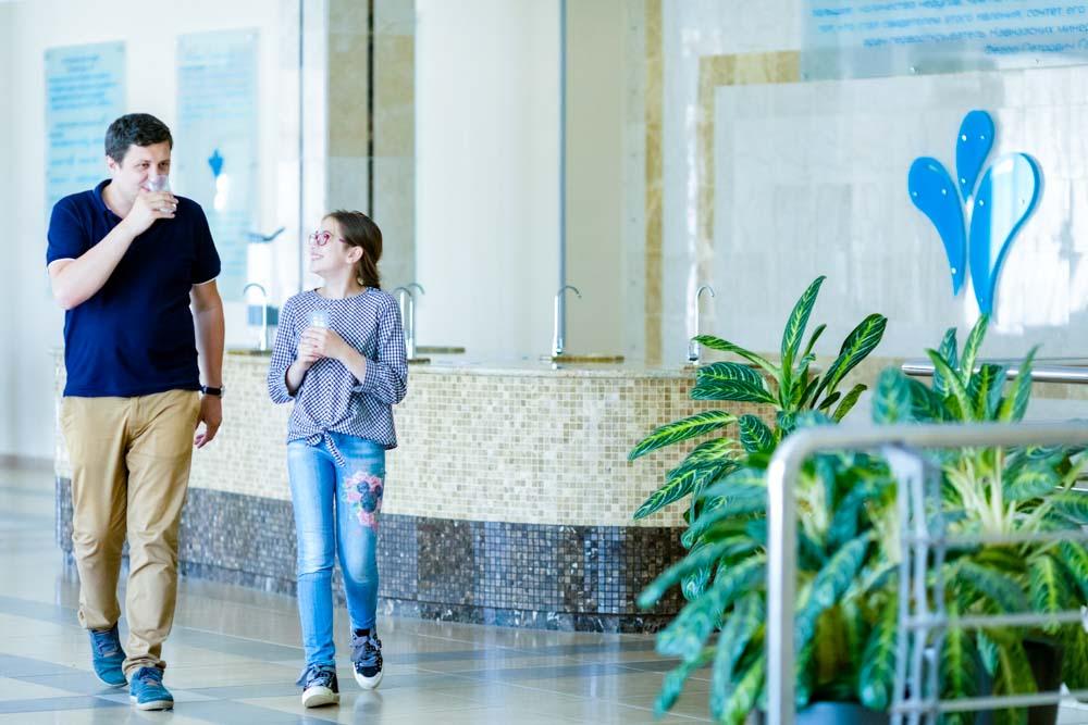 Минеральный бювет в санатории Русь в Ессентуках - фотография